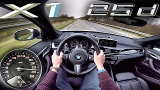 BMW X1 25d xDrive ACCELERATION & TOP SPEED POV Test Drive Autobahn