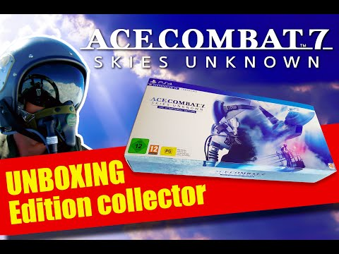 UNBOXING : ACE COMBAT 7 : Skies Unknown The stangereal edition COLLECTOR PS4