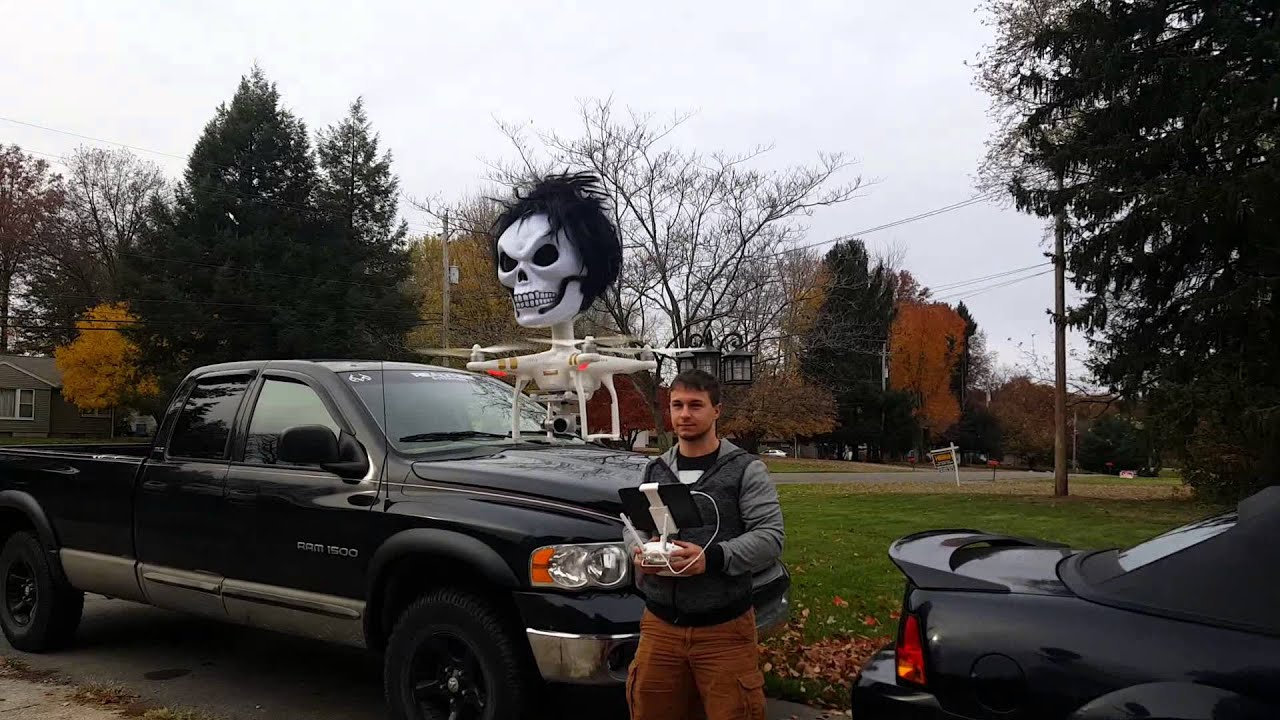 Funny Video: Flying Drone Halloween Costume Fail