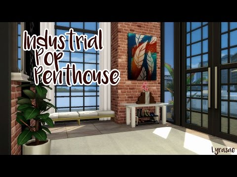 Sims 4 ❤ Industrial Pop Penthouse ❤ Speed Build