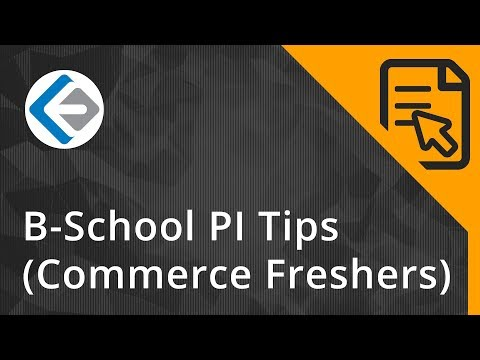 Interview Tips For Fresh Commerce Graduates | B-School Admissions