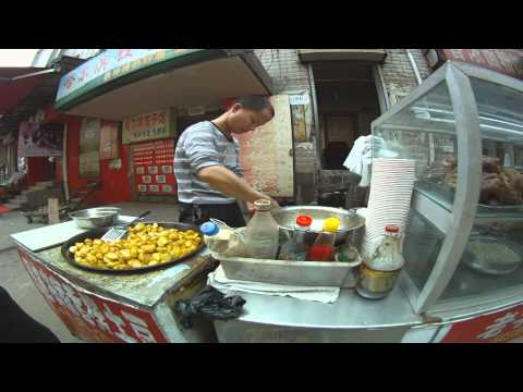 A Street Food Market in Wuhan (武汉)