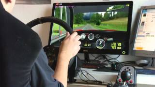 RFactor HISTORIC GT G25 With Real Wheel GAMEPLAY