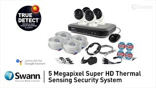 Swann 5MP SWDVK-849804B2D HD CCTV Kit 4x 5MP Bullets & 2x 5MP Dome video
