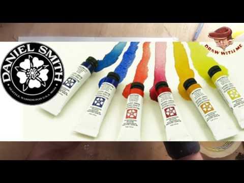 DWM-كيف تختار اللوازم وأدوات الرسم بالصباغة المائية ورسم طبيعة ميتة - part 1