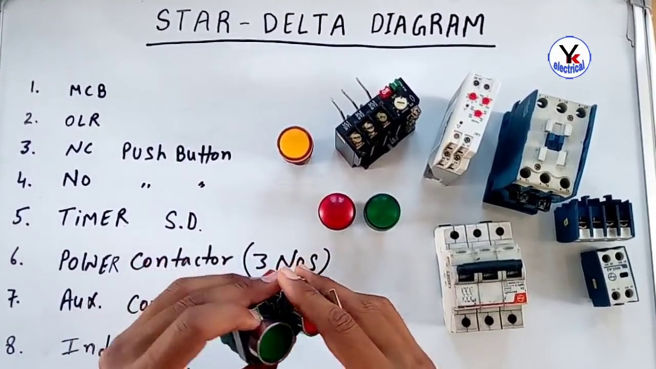 Star Delta Starter Diagram In Hindi Urdu Yk Electrical Youtube Power Wiring Of