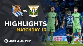Highlights Real Sociedad vs CD Leganes (1-1)