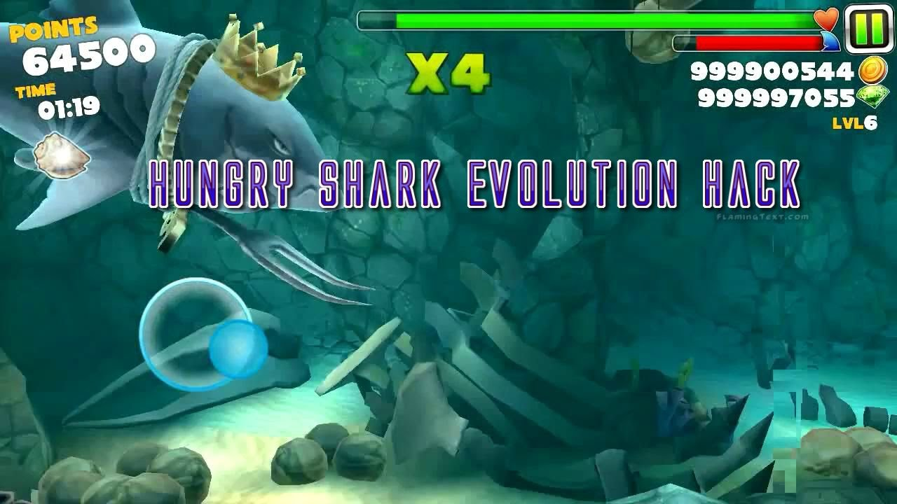 Скачать мод на hungry shark
