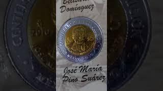 Monedas Bicentenario y Centenario de 5 pesos Mexico