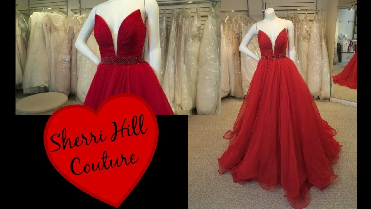 Sherri Hill Couture Red Ballgown Celestial Brides Prom Youtube