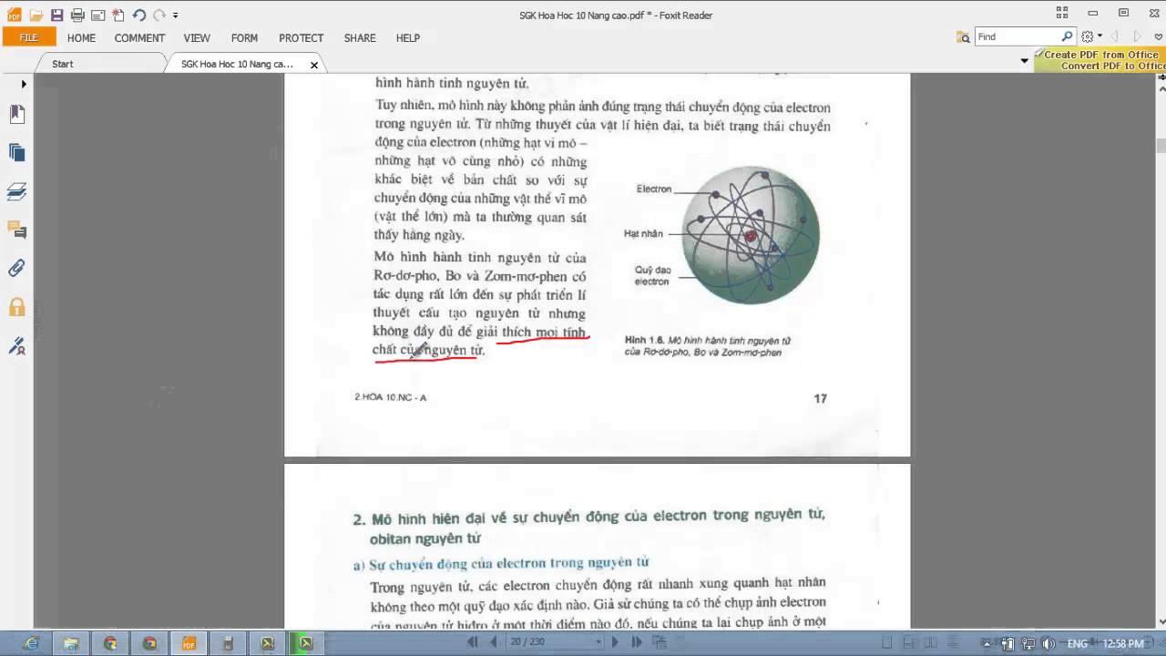 [HÓA 10] Chương 1 – Bài 4 Sự chuyển động của electron trong nguyên tử. Obitan nguyên tử