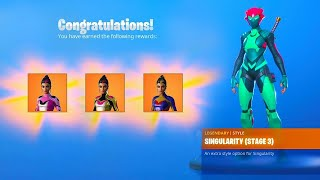 *NEW* How to Unlock ALL SINGULARITY SKIN STAGES in Fortnite! (All Singularity Helmet Locations)