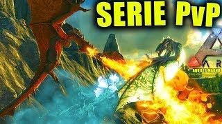 GUERRA DE DRAGONES vs 4 TRIBUS !!! #7 SERVER PvP SERIE ARK SURVIVAL EVOLVED