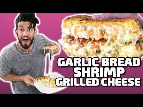 Garlic Bread Shrimp Grilled Cheese!