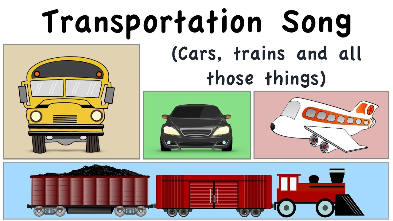 Transportation Song | Cars, trains and all those things | Green Bean's Music