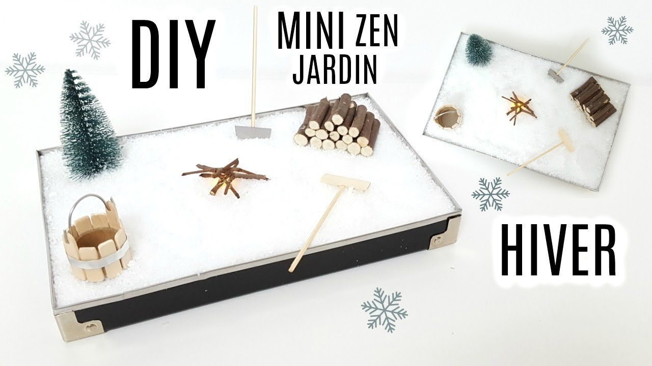 COMMENT FAIRE UN JARDIN ZEN MINIATURE / HOW TO MAKE MINI GARDEN ...