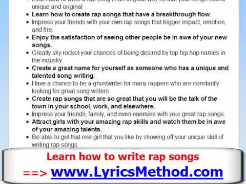 Topics to write a rap song about