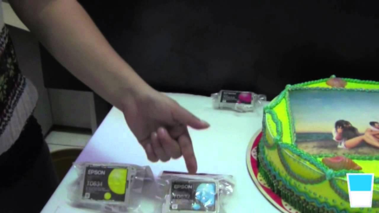 Cmo se imprimen las fotos sobre un pastel  YouTube