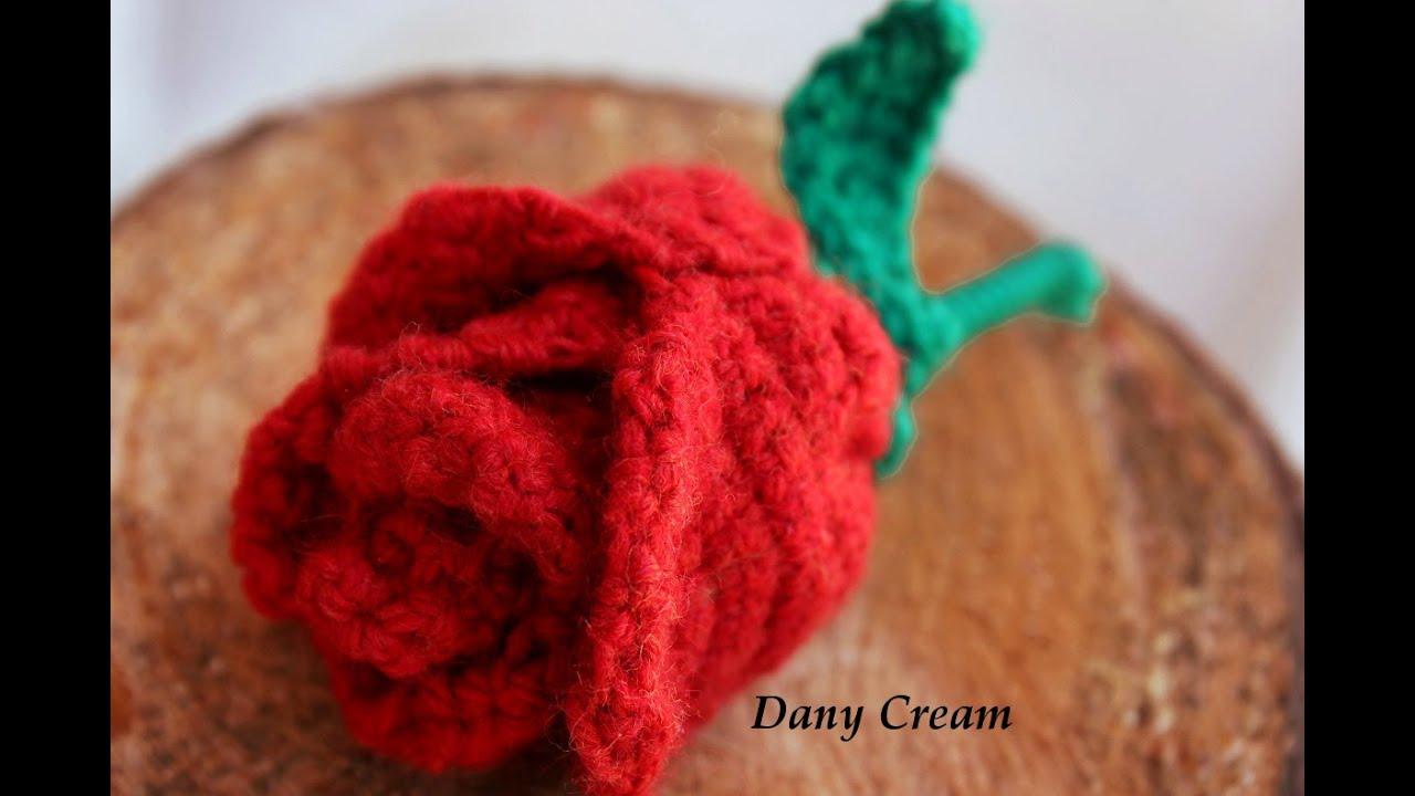 Una Rosa Senza Spine Quella Alluncinetto Tutorial Tejer Una Rosa