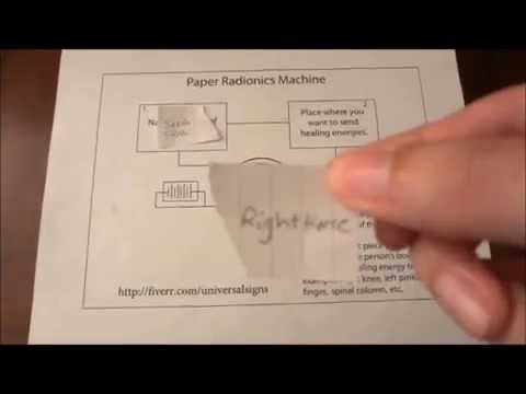 How to Use the Paper Radionics Machine for Healing