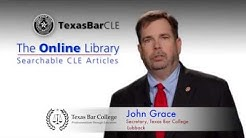 Texas Bar CLE Online Library - Save with TexasBarCollege Membership or Discount Code
