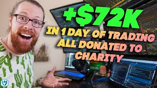 Thankful FRIDAY 100% Trading for Charity! - LIVE Day Trading Morning Show  with Ross Cameron!