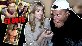 REACTING TO MY GIRLFRIEND'S EXES (CALLS ME A DOWNGRADE)