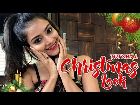 christmas makeup tutorial  festive makeup look  foxy