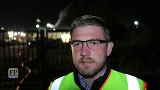 Großbrand bei Recyclingfirma in Mittweida