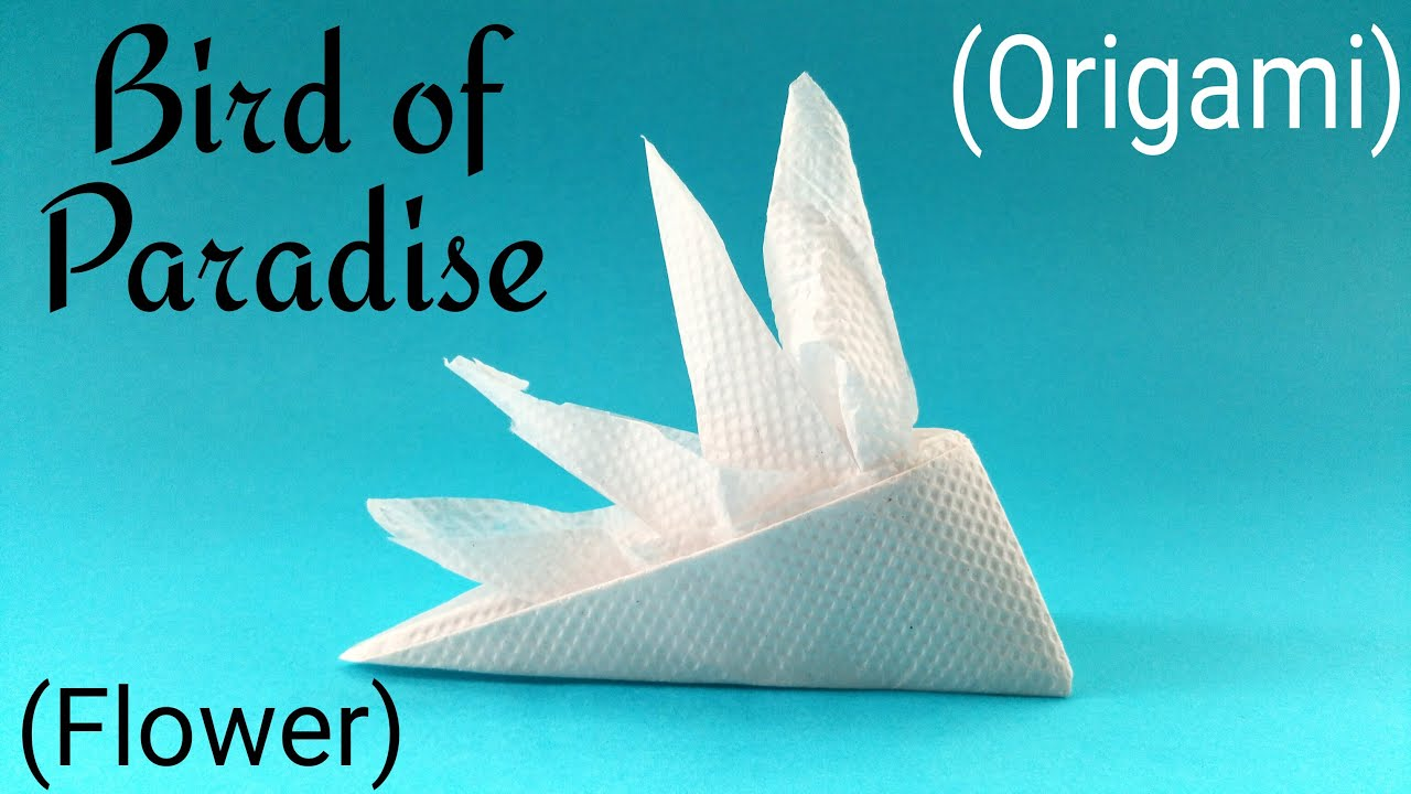 "How to fold make ""Bird of Paradise"" flower using Tissue Paper Eas"