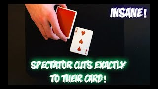 THEY Cut To Their Own Card! Very Cool Card Trick Performance And Tutorial!