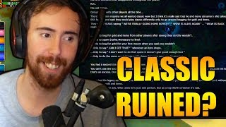Classic Forums Believe Asmongold Has Ruined Classic For Himself