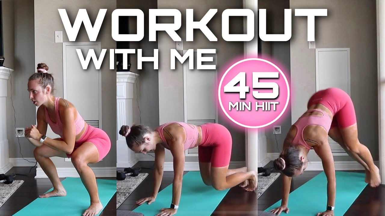 45 MIN HIIT | LEGS & ABS | real time, no equipment, tabata style workout