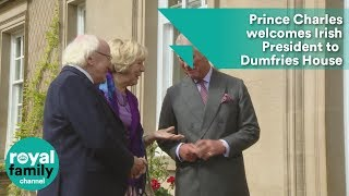 Prince Charles welcomes Irish President to Dumfries House