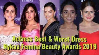 Actress Best & Worst Dress At The Nykaa Femina Beauty Awards 2019