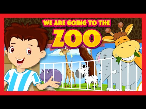 We Are Going To The Zoo Song   Kids Hut Rhymes  
