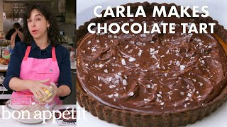 carla-makes-a-salted-caramel-chocolate-tart-from-the-test-kitchen-bon-apptit