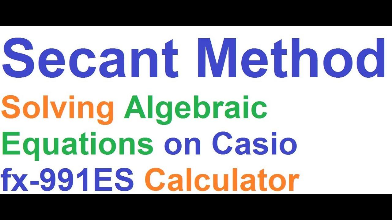 how to solve quadratic equations on casio fx-991es