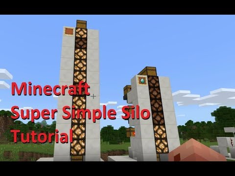 Minecraft Tutorial - Super Simple Silo Storage System (XBOX, MCPE, BEDROCK, PS4, PC)