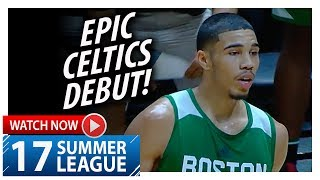 Jayson Tatum EPIC Celtics Debut Highlights vs 76ers (2017.07.03) Summer League - 21 Pts, CLUTCH!