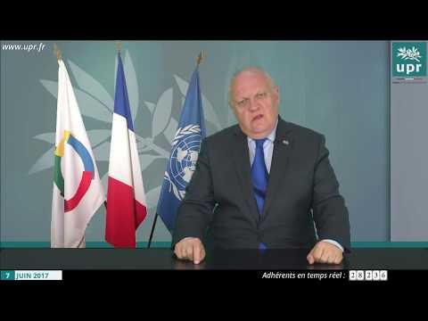 François Asselineau répond aux questions des internautes en direct sur YouTube le 7 juin