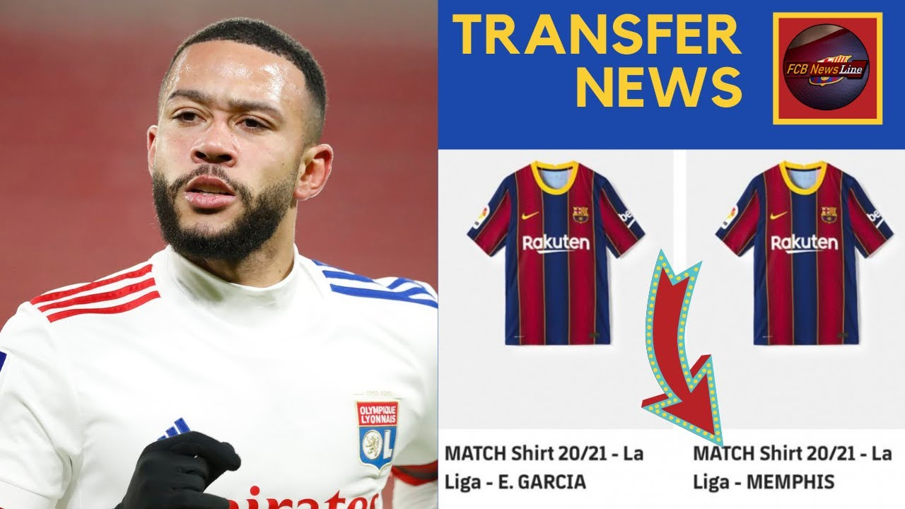 Memphis Depay shirt on sale at Barcelona club shop in huge transfer hint