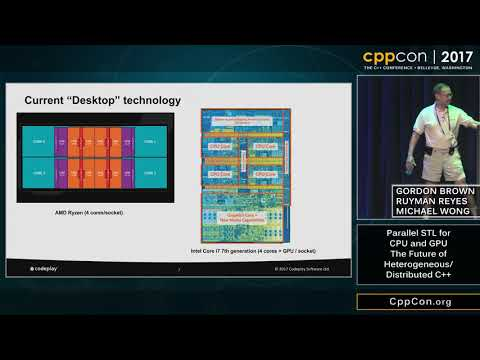 "CppCon 2017: ""C++17 ParallelSTL: A Standardization Experience Report for CPU and GPU on SYCL"""
