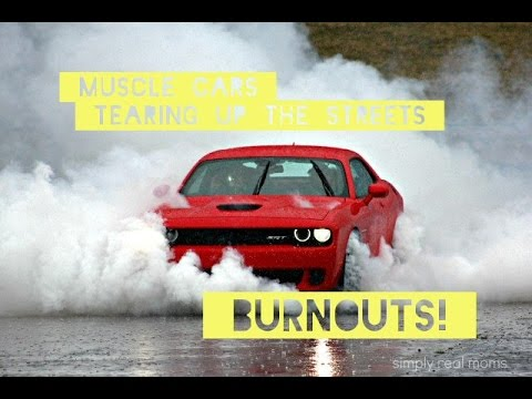 Muscle Cars Tearing Up The Streets Burnouts Pure V8 Sound