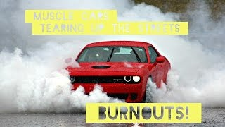Muscle Cars tearing up the STREETS!! (Burnouts) (Pure v8 Sound)