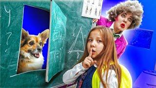 ПРИТАЩИЛА СОБАКУ В ШКОЛУ! МИСС ТИ В БЕШЕНСТВЕ 😤! Как пронести животного в школу!