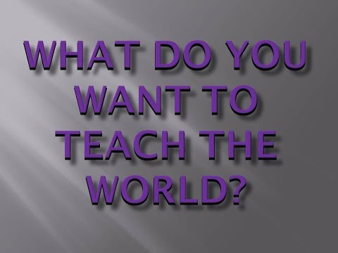 Kid President's Homework: What do you want to teach the world?