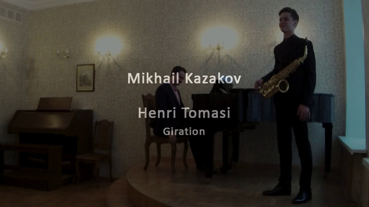 Mikhail Kazakov - H. Tomasi: Concerto For Alto Saxophone, II. Allegro - Giration