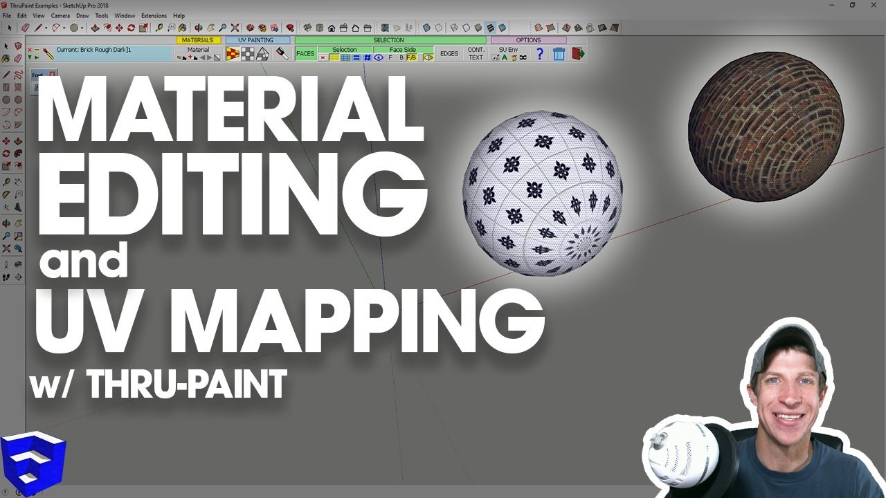 Mapping and Editing Materials and Textures in SketchUp with