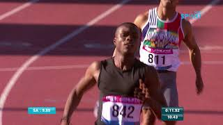 Paarl Athletics 22 March   100m Mens B race High